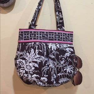 VERA BRADLEY Retired Brown Paisley Floral Purse